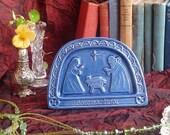 Blue Celtic Nativity Plaque