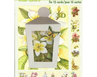 Book leaves 3D cutting, gluing, cardmaking BUTTERFLIES flowers 616