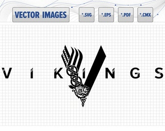 Vikings logo - vector graphic svg, eps, pdf, cmx and raster png for instant download