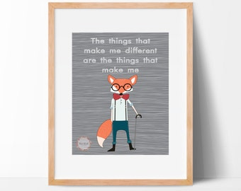 Fox The Things That Make Me Different Wall Print_0013WP