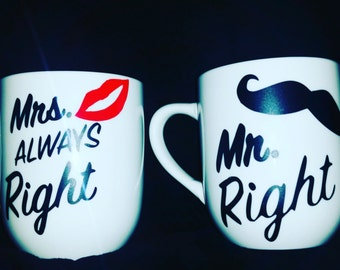 His and her coffee mugs