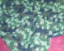Camo Crocheted Baby Blanket