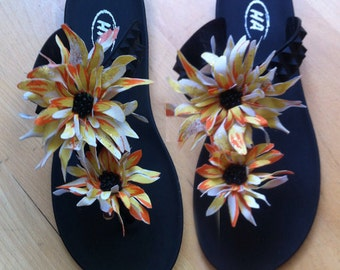 Flowers Accessory for Shoes. With the help of this cutest flowers you can transform your slippers to very nice beach shoes.