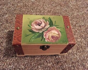 Flower Hand Painted Jewlery Box