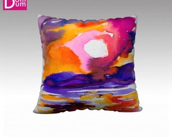 Cushion cover, grounds Sunrise, in Velvet
