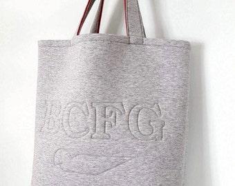 Handbag - purse neoprene - gym bag - beach bag - Shopping bag