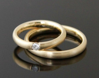 Wedding rings ELEGANT Gold 8 k or 14 k