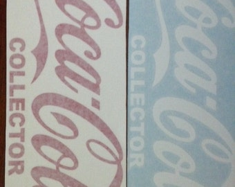 "Coca-Cola ""Collector"" Vinyl Sticker"
