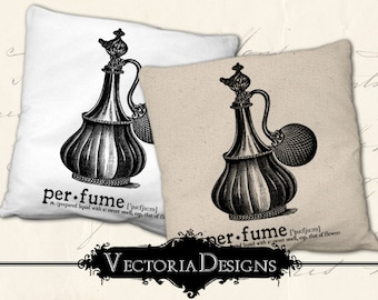 Perfume digital transfer image iron on printable instant download digital collage sheet VD0641