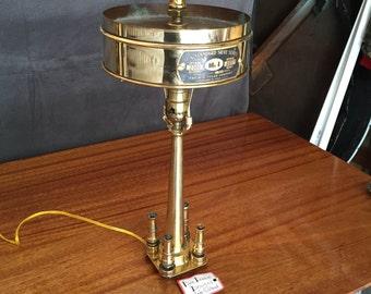 Fire Hose Steampunk Lamp
