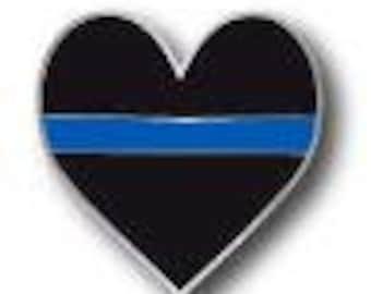 Heart blue line
