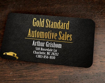 100 Custom Metal Printed Classy Business Cards Great for High End Marking and Branding with Your Logo
