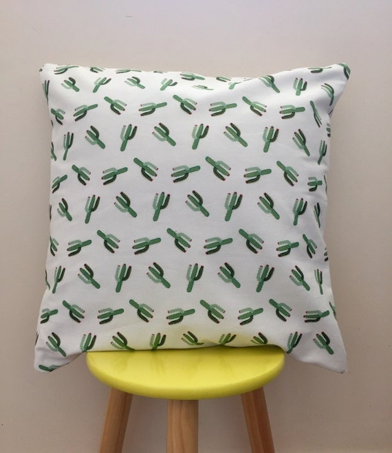 Dont be a prick gold accent cactus cushion cover