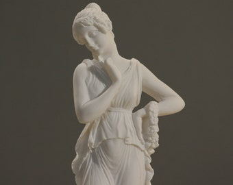 "PERSEPHONE Goddess Queen of the underworld Alabaster Sculpture Statue 9.8"" **Free Shipping & Free Tracking Number**"