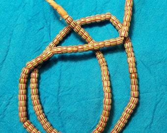 Antique Italian Chevron Trade Beads