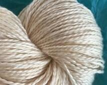 DK Silk Cotton 51/49 Undyed Yarn,  3 Ply Natural Ecru Undyed Yarn Blank, Undyed Silk Cotton Yarn, Summer Yarn