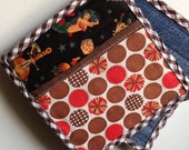 Pocket Pot Holders-Tattoos and Dots