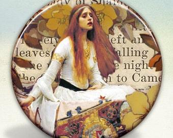 The Lady of Shalott pocket mirror tartx