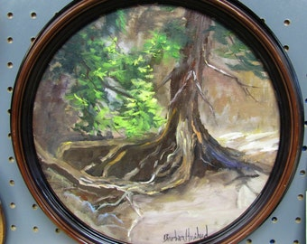 Adirondack Mountains Pine Tree Roots Barbara Haviland BarbsGarden Texas Landscape Artist