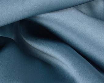 "Blue 100% Silk Satin Charmeuse - 45"" Wide - 7/8 Yard (FABSCH-BL)"