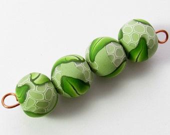 Polymer Beads, Leaf Beads, Clay Beads, Artisan Beads, Polymer Leaves, Clay Leaf Beads, Polymer Clay Beads