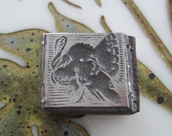 Vintage Letterpress Printers Block Thanksgiving Turkey