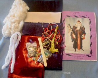 """SUPPLIES, KIT, Pattern, to make  DANTE,  Wizard, Art Doll, 22"""" (55 cm) Tall, Create, Diy Wizard Doll, Instructional, Cloth Doll Projects,art"""