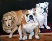 Large Pet Portrait Oil Painting on Canvas