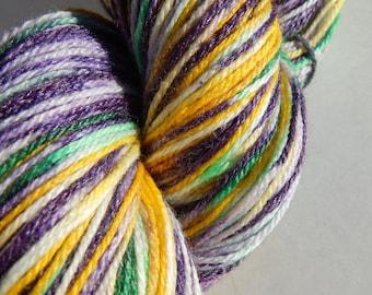 Mardi Gras Memory-Handpainted Sock Yarn