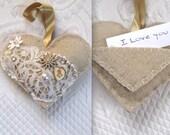 love token . wedding vow heartfelted art . felted heart . fiber art heart . praying hands . gypsy heart  . love note . love note heart