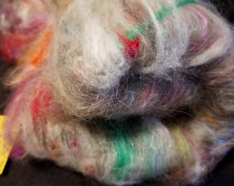 CRAZY Art Batt Rabbit Baby Alpaca llama Merino Silk Cotton Kid Mohair FOREST FUR
