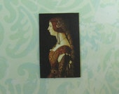 Dollhouse Miniature Renaissance Lady Art Print Panel