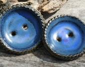 Handmade Ceramic Button Set of 2