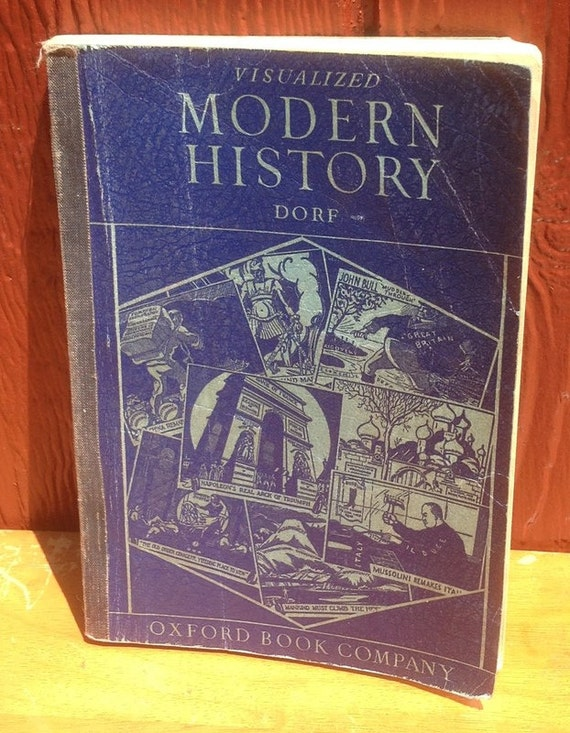 Visualized Modern History - Philip Dorf - 1946 - Vintage Book