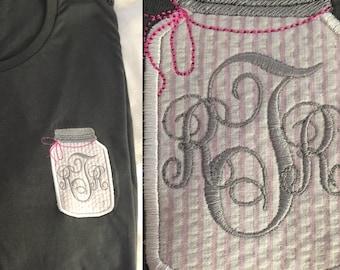 Mason Jar Monogram Shirt