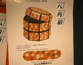 2 Japanese Paper Kits for Octagonal Jewelry Boxes, Chiyogami Washi Papers