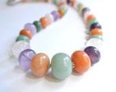 The Claudia-Graduated Mixed Gemstone Statement Necklace