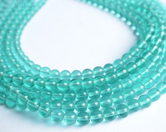 The Michelle- Aqua Czech Glass Statement Necklace