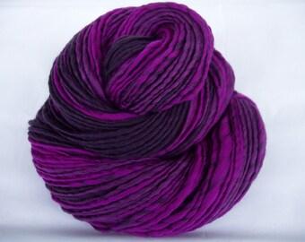 Handspun merino yarn, merino knitting yarn, self striping yarn, VIOLETTA 2, crocheting yarn, dolls hair, felting yarn, handspun yarn, 150yds