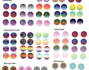 Blythe Printable Eye Chips - Sheet #3 (updated!)