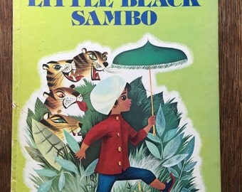 1976 Little Black Sambo Helen Bannerman Bonnie Bill Rutherford Golden Book