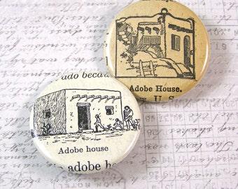Adobe House Pinback Button Set