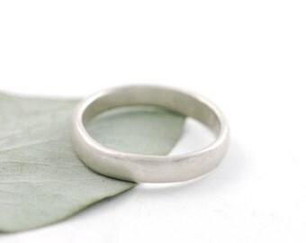 Simplicity Wedding Ring - Palladium Sterling Silver Wedding Band - 3mm - made to order wedding ring in recycled metal