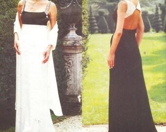 Vogue 1903 - Badgley Mischka EMPIRE WAIST Evening DRESS  - Sewing Pattern - 2 Styles - Sizes 14-16-18 - Uncut