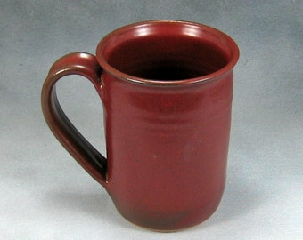 Coffee Mug 16 Ounce Rust Red Ceramic Mug Coffee Cup Hand Thrown Stoneware Pottery Mug 23