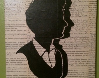 Harry Potter Silhouette Painting - Fred and George Weasley Twins Hogwarts