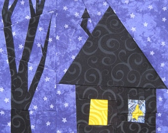 A Little Haunted, a block to paper piece PDF