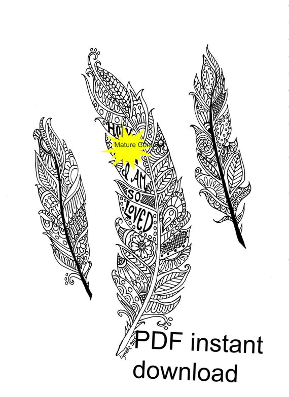 Mature Content Instant Download Sweary Coloring Page Curse