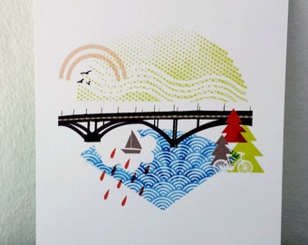 New Sellwood Bridge Portland 5x7 Print