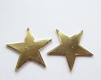 On Sale Vintage gold plated large star pendant charms